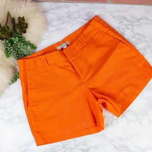 Banana Republic Orange Linen Shorts 4